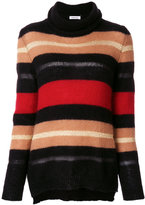 P.A.R.O.S.H. striped turtleneck sweater - women - Polyamide/Polyester/Viscose/Wool - S