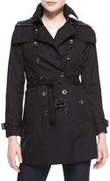 Burberry Reymoore Double-Breasted Hooded Trench Coat