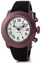 Glam Rock SoBe SB3020 – Watch Unisex – Quartz – Chronograph – Black Dial – Black Silicone bracelet