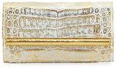 Nancy Gonzalez Crocodile Front-Flap Bar Clutch Bag, Gold