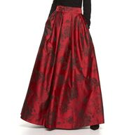 Jessica Howard Women's Pleated Floral Ball Skirt