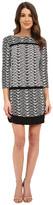 Donna Morgan 3/4 Sleeve Printed Jersey Drop Waist Shift Dress