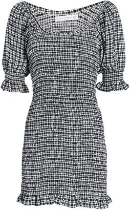 Faithfull The Brand Constantia Smocked Check Mini Dress