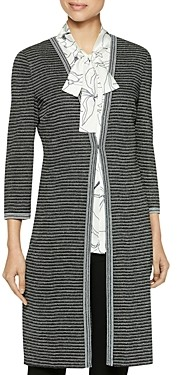 Misook Striped Duster Cardigan