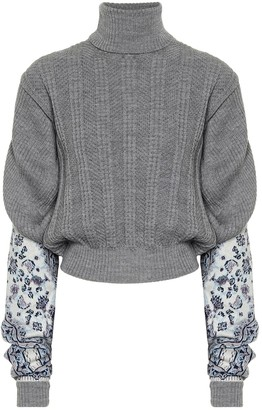 Y/Project Intarsia linen-blend sweater