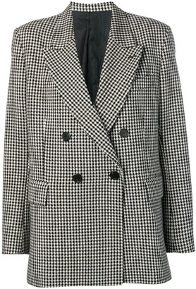 AMI Paris Houndstooth Double-Breasted Blazer