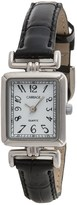 Timex Carriage Silver-Tone Watch - Leather Strap (For Women)