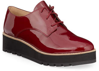 Eileen Fisher Eddy Patent Platform Oxford Shoes