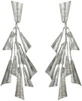 Natori Silver Plated Brass Fringe Earrings