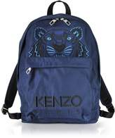 Kenzo Navy Blue Canvas Large Tiger Backpack