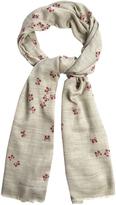 Bottega Veneta Butterfly-print cashmere scarf