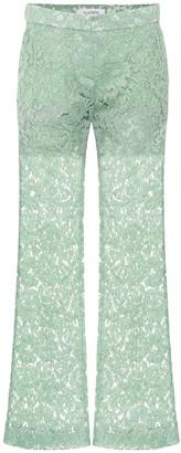 Valentino Cotton-blend lace pants