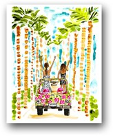 The Well Appointed House Girls Trip Colorful Art Print