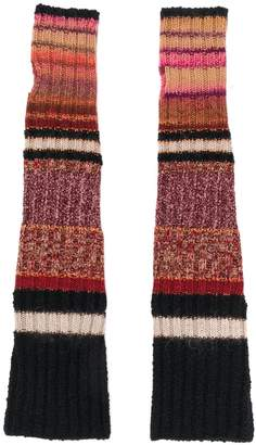 Etro long knitted gloves