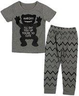 YOUJIA Unisex Baby Long Sleeved Printed T-shirt Pants 2pcs Clothes Set , 80