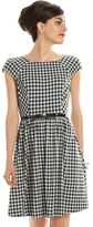 Elle Women's ELLETM 70th Anniversary Collection 1950s Gingham Fit & Flare Dress