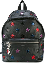 Saint Laurent star logo backpack - women - Calf Leather/Leather - One Size