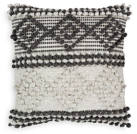 Surya Anders Textured Black & White Throw Pillow, 18 x 18
