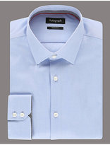 Autograph 2in Longer Supima® Cotton Pinpoint Shirt