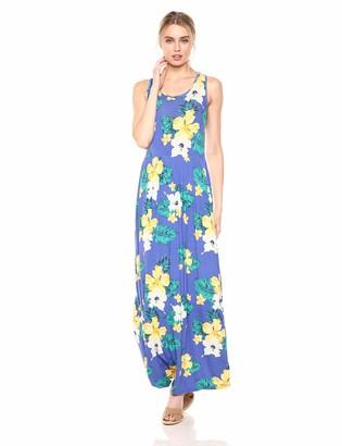 Private Label 28 Palms Tropical Hawaiian Print Sleeveless Maxi Dress Casual