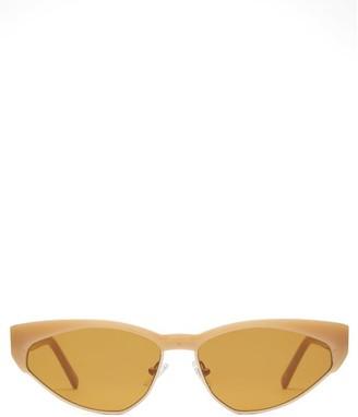 Cat Eye Andy Wolf - Volta Cat-eye Acetate Sunglasses - Womens - Yellow