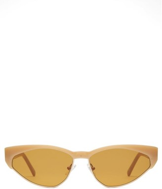 Andy Wolf - Volta Cat-eye Acetate Sunglasses - Yellow