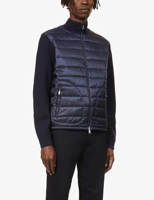 Ralph Lauren Purple Label Contrast-panel dropped-shoulder shell cardigan