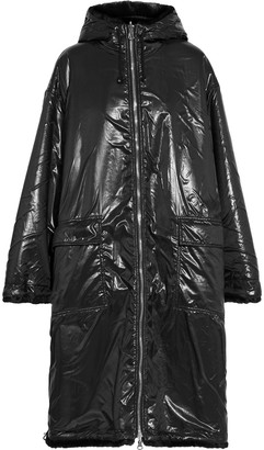 Stand Studio Claudia Reversible Glossed-shell And Faux Fur Coat