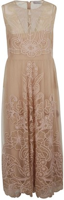 RED Valentino Sleeveless Floral Lace Dress