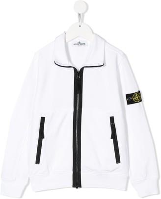 Stone Island Junior Stand-Collar Zipped Jacket