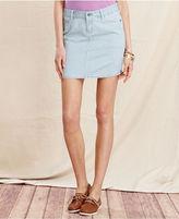 Tommy Hilfiger Skirt, Denim Fitted Mini, Indigo Wash