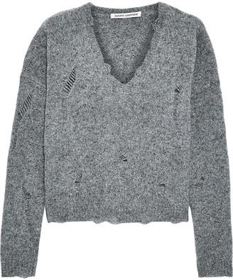 Autumn Cashmere Distressed Melange Cashmere Sweater