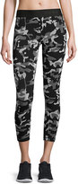 Koral Activewear Knockout Cropped Athletic Leggings, Black Camo