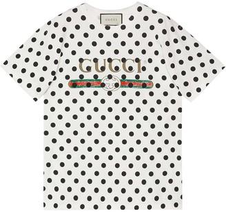 Gucci Vintage logo polka dot print T-shirt
