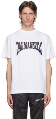 Palm Angels White Broken Logo T-Shirt