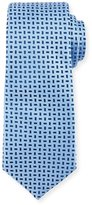 Neiman Marcus Mini Geometric Print Tie, Medium Blue