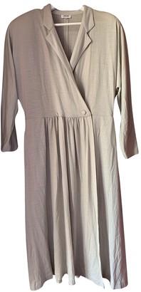 Rodier Grey Wool Dress for Women Vintage