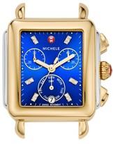 Michele Women's Deco Diamond Dial Two-Tone Watch Head, 33Mm X 35Mm