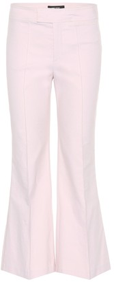 Isabel Marant Lyre flared cotton-blend trousers