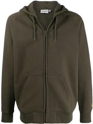 Carhartt WIP zipped drawstring hoodie