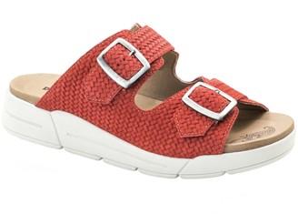Dromedaris Slip-On Leather Sandals - Terry