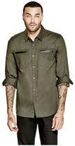 GUESS Men's Cianan Slim-Fit Chambray Shirt