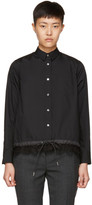 Sacai Black Drawstring and Lace Shirt
