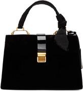 Miu Miu Black Velvet Duffle Bag