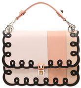 Fendi Medium Kan I Embroidered Leather Bag