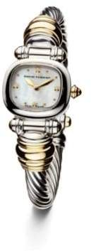 David Yurman Cable 21Mm Sterling Silver Quartz Watch With 18K Gold