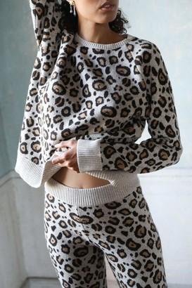 Ragdoll LA CASHMERE LEOPARD SWEATER Brown Leopard