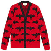 Gucci Bat jacquard knit cardigan