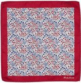 Hardy Amies Red Floral Pocket Square