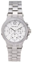 Republic Women's Stainless Steel Runway Chronograph Watch